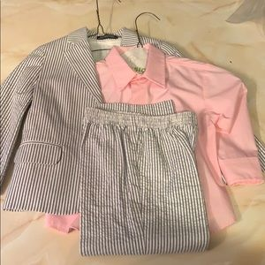 Boys Nautica Suit w/ pink shirt 3t